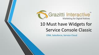 10 Must-have Widgets for Service Console Classic | Grazitti Interactive