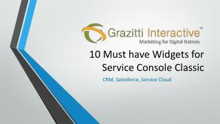10 Must-have Widgets for Service Console Classic | Grazitti Interactive