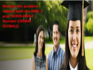 Remove the problem related with the MBA 1 year 96909-00054 Number-((MIBM GLOBAL))