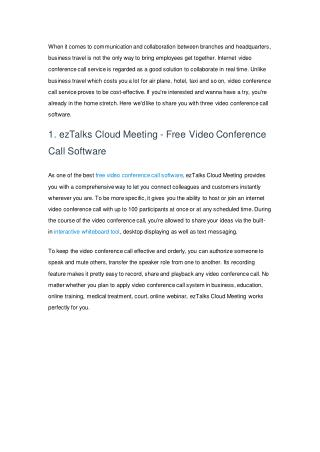 3 Video Conference Call Software for Collaboration in Real Time