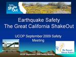 Earthquake Safety  The Great California ShakeOut