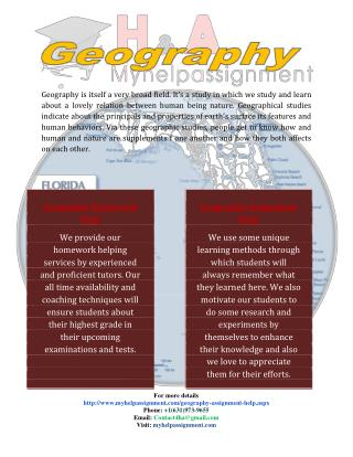 geography homework assignment help