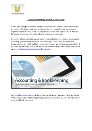 Accurate Bookkeeping Services in San Antonio