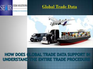 How does Global Trade Data Support in Understand the Entire Trade Procedure
