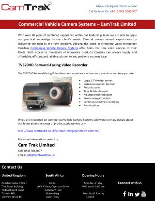 Commercial Vehicle Camera Systems – CamTrak Limited