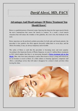 Advantages And Disadvantages Of Botox Treatment You Should Know!