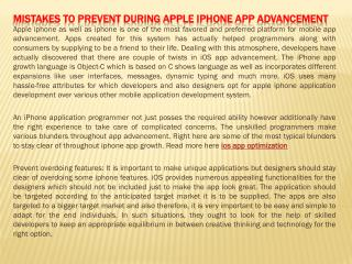 Mistakes to Prevent During apple iphone App Advancement