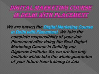 Digital marketing course in delhi with placement
