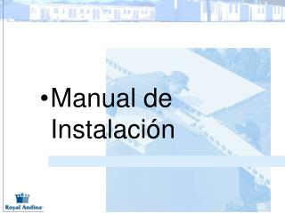 Manual de Instalaci n