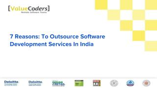 7 Reasons: To Outsource Software Development Services In India