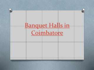 Choose the best Banquet Halls