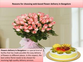 Reasons for choosing web-based flower delivery in Bangalore