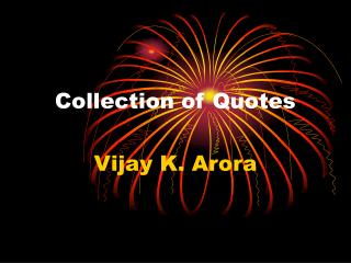 Collection of Quotes