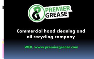 Oil recycling services from Premier Grease