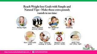 Reach Weight loss Goals with Simple and Natural Tips – Make those extra pounds vanish in no time