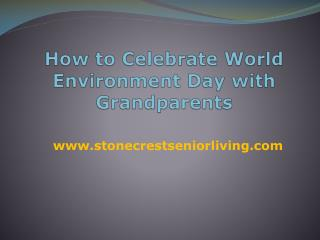 How To Celebrate World Environment Day with Grandparents