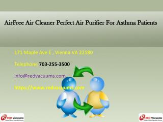 AirFree Air Cleaner Perfect Air Purifier For Asthma Patients