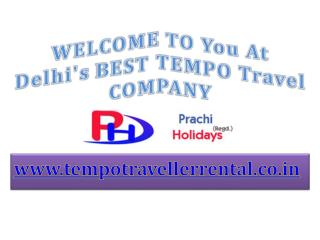 Tempo Traveller on  Hire | Volvo Bus Booking | Budget Hotels Booking | Prachi Holidays