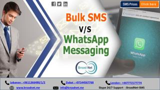 Bulk SMS v/s WhatsApp Messaging - Which One Provides Better ROI?