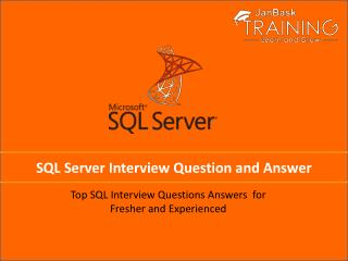 SQL Server Interview Question And Answer