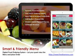Digital Restaurant Menu Satisfy every need of the Customers