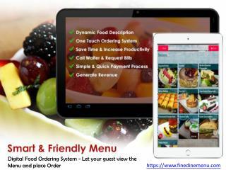Digital Restaurant Menu Satisfy every need of the Customers