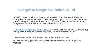Guangzhou Xiangze pvc Leather Co.,Ltd