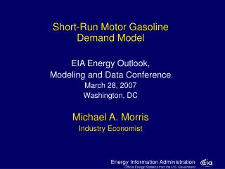 Motor Gasoline Model: Major Developments and Issues
