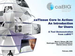 CaTissue Core In Action:  An Introduction  for Users  A Tool Demonstration  from caBIG