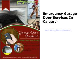 Emergency Garage Door Services In Calgary