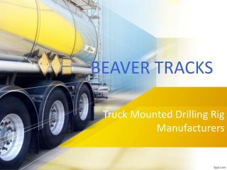 Truck Mounted Drilling
