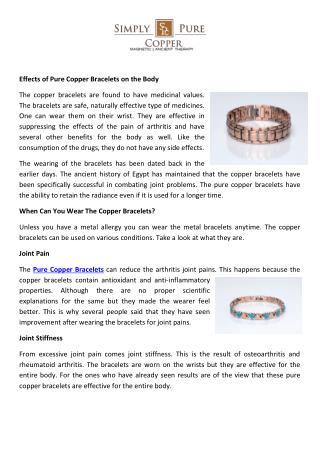 Buy Copper Bracelets Online, Pure Copper Bracelets Online Store USA