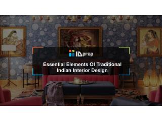 Essential elements of traditional Indian interior design