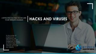 4 Effective Tactics to Secure your Website against Hacks and Viruses