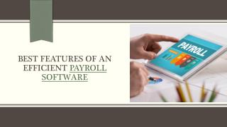 Best Features of an Efficient Payroll Software