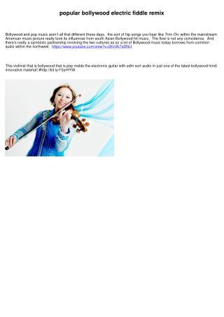 popular bollywood electric violin remix