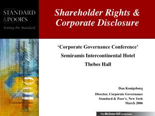 Shareholder Rights  Corporate Disclosure