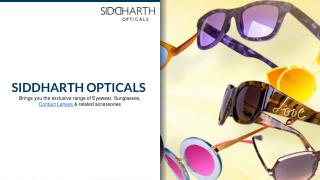 Siddharth Opticals : Buy Contact Lenses Online