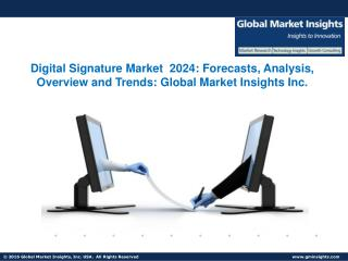 Digital Signature Market  2024: Forecasts, Analysis, Overview and Trends