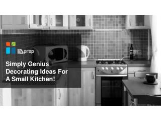 Simply genius decorating ideas for a small kitchen!