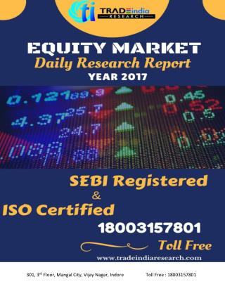 daily Equity cash report Buy TradeIndia Research