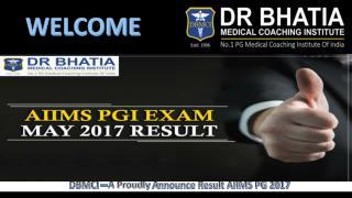 AIIMS PG MAY Result 2017