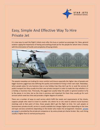 Book Private Jet Rental & Air Ambulance : Star Jets International