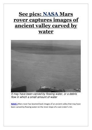 See pics: NASA Mars rover captures images of ancient valley carved by water