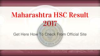 Maharashtra HSC Result 2017 - Get Here How To Check From Official Site
