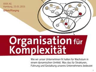 Organisation für Komplexität - Keynote von Niels Pfläging für Kunden, Hamburg (Hamburg/D)