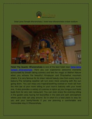 Dalai Lama Temple dharamshala | hotel near dharamshala cricket stadium