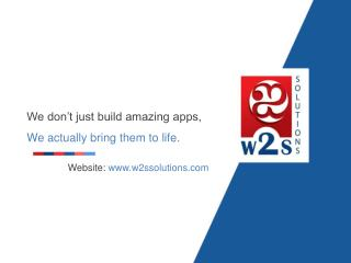 W2S Solutions overview 2017