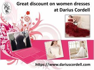 Shop online custom dresses from Darius Cordell