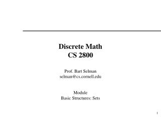 Discrete Math CS 2800
